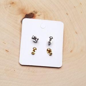 Jewelry - Celestial Galaxy Stars Faux Geode Stud Earrings